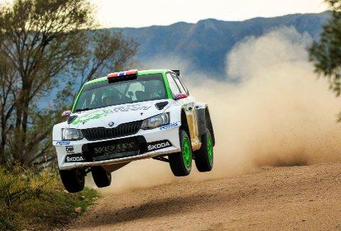 NY ERFARING: Ole Christian Veiby og Stig Rune Skjærmoen debuterte i Rally Argentina i helgen.