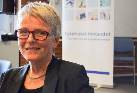 FORKLARER UHELDIG UTTALELSE: Anne Enger, styreleder i Sykehuset Innlandet, kommer nå med en forklaring på hvorfor hun sa det hun sa i styremøtet. (Foto: Bjørn-Frode Løvlund)
