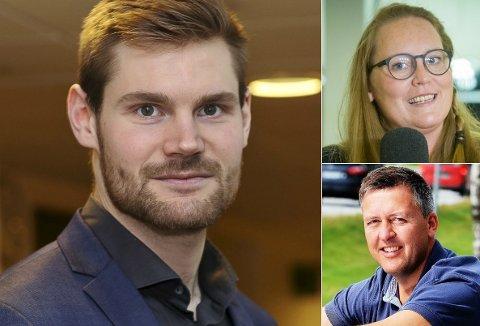 DEN NYE TRIOEN: Nils Kristen Sandtrøen (til venstre), Lise Selnes og Rune Støstad er ønsket som ny ledergruppe i Innlandet Ap.