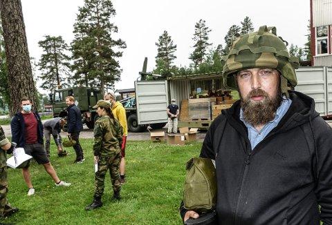 PÅ PLASS: Sigurd Frigård fra Flisa var en av 400 personer som ble innrullert som HV-soldat på Haslemoen.