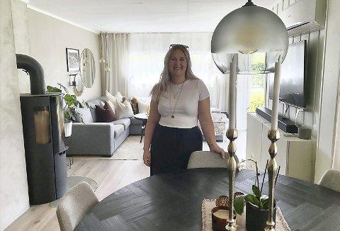 EGET HJEM: Kine og Daniel Korsmo i Elverum har hatt en klar plan om å investere i fast eiendom. De har pusset opp og solgt med gevinst, og bor nå i sitt tredje hus, mens de også har et hus som de leier ut.