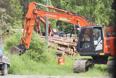 NY VEI: Anleggsarbeidet på ny E18 har startet ved Lanner.
