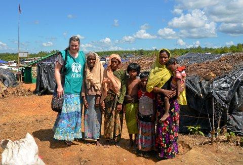 I Bangladesh: Britt Celine Oldebråten har vært i Bangladesh på oppdrag med Adra.