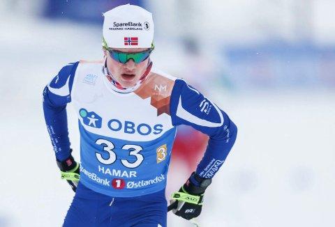 NM ski Gåsbu 2018. Stafett herrer. Vetle Grønnevik Stangstuen