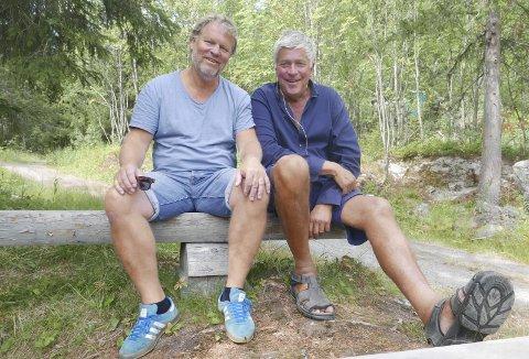 Gleder seg: Kai Remlov og Leif Arild Sanden gleder seg begge to til å jobbe sammen. Begge to er drevne spel-skuespillere, men har aldri spilt i Marispelet før.