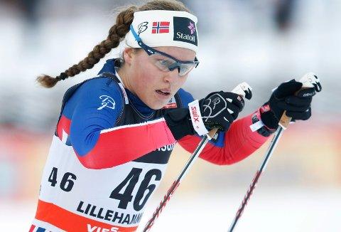GULL: Lotta Udnes Weng triumferte på siste dag av U23-VM. Foto: Terje Pedersen / NTB scanpix