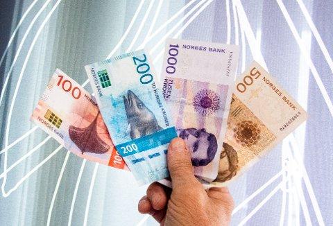 Mo i Rana  20180925. Penger, sedler, mynter. Foto: Gorm Kallestad / NTB