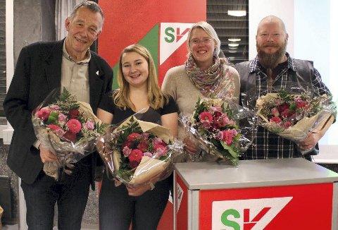 TOPPKANDIDATER: Martin Berthelsen fra Hurum, Anne Høie Guettler og Janne Grøttumsbråten fra Asker, Bernt Leon Hellesø fra Røyken besitter de fire første plassene på Nye Asker SVs liste.