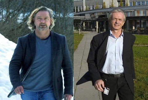 TILBAKEVISER: Avdelingsleder Stig Sægrov (t.v.) og rektor Harald Møller sier de ikke har jobbet for nedleggelse av RM på SVGS.