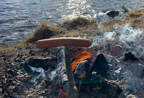 VÆR FORSIKTIG: Fra og med onsdag ble et forbudt å brenne bål i skog og mark.