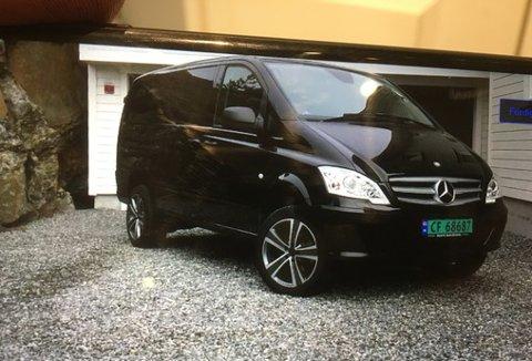 Denne Mercedes-Benz Vito ble stjålet fra et verksted i Statsminister Torps vei på Hafslund natt til tirsdag. Siden har ingen sett bilen.