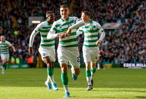Mohamed Elyounoussi og hans Celtic herjet med Ross County lørdag.