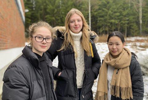 FRUSTRERTE: Elevene er frustrerte over situasjonen. De hadde gledet seg til reisen lenge.