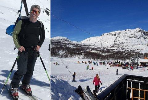 GODE FORHOLD: Morten Odden, dagleg leiar i Tyin/Filefjell Utvikling kan lokka med eventyrlege forhold, men pandemien har sett sine spor: - Heldigvis har me eigarar med musklar, seier han.