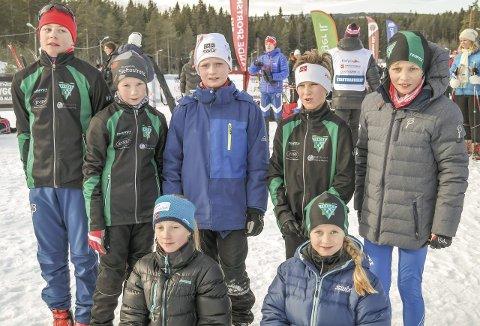HEISTADMOEN: Berger Idrettslag sin skigruppe på Heistadmoen hvor de deltok i Eiker skifestival som gikk over flere dager. Foto Berger IL