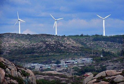 KAN KOMME: Vindmøller kan bli et vanlig syn i Telemark. Dette bildet er fra Fjeldskår vindmøllepark ved Lindesnes.