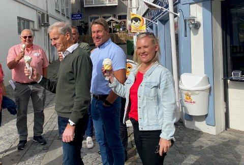 TYDELIG: Arbeiderpartiets leder, Jonas Gahr Støre, peker på både Lene Vågslid og Terje Aasland som mulige statsråder ei en eventuell ny regjering.