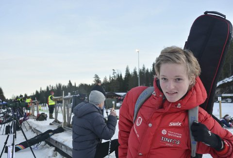 Skal satse: Sander Steinmoen kan ikke se for seg et liv uten skiskyting. Han snakker ikke om verdenscup, men han ønsker å bli så god som mulig.