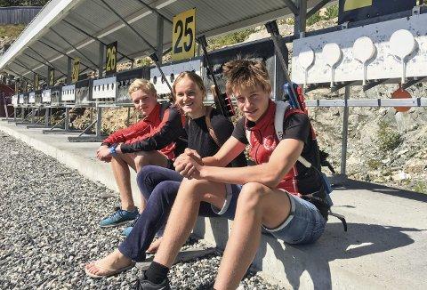 Samling: Sander Steinmoen og Even Uhlin Engstu var på samling på Gautefall denne helga sammen med Åsne Hordvei fra samme klubb, hun skal også til Bø til høsten.