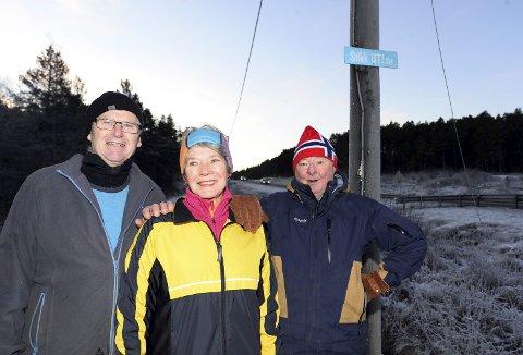 Ildsjeler: Inger Johanne Bjørnå og damegruppa i IL Norodd gleder seg til Leif Furre, Alf Gundersen og de andre ildsjelene i Freimarkas venner kan tilby lys rundt hele rundløypa på Prestmyra. Ei sløyfe på 3 kilometer vil til neste sesong bli lyslagt hvis alt går etter planen.