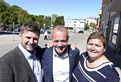 Orkide-leder Roger Osen (fra venstre), nestleder og ordfører i Kristiansund, Kjell Neergaard og Aure-ordfører Ingunn Golmen er tydelige på at opera- og kulturhus i Kristiansund ikke bare er et prosjekt for Kristiansund, men for hele Nordmøre. Nå krever de at staten tar sitt ansvar og gir prosjektet oppstartsbevilgning.