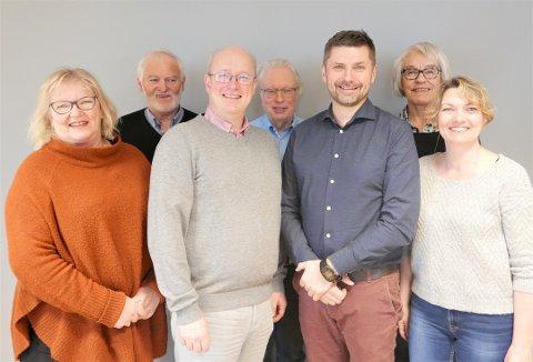 Styret som ble valgt for perioden 2016-2019: Fra venstre Nora Korsnes Wårle, Inge Skogheim, Ståle Refstie, Lars Liabø, Roger Osen, Eva Toril Strand og Karin Torset.