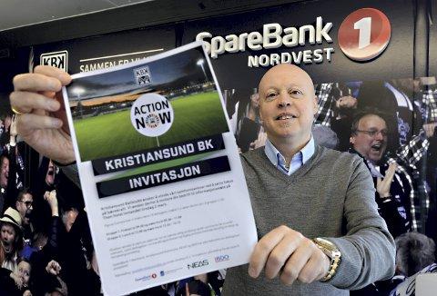 Krever handling nå: Daglig leder Kjetil Thorsen håper mange måter opp når fotballklubben KBK inviterer til informasjonsmøte for å høre mer om Action Now.