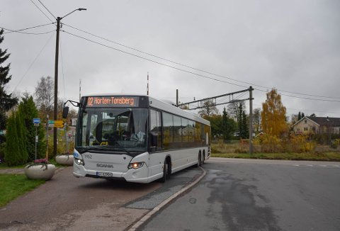 LANG RUTE: Rute 02 kjører helt fra Hvasser til Holmestrand, og har flere stoppesteder i Horten.