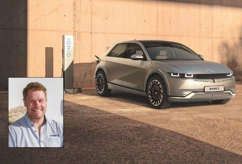 NY VERSJON: Hyundai Ioniq 5 er nå lansert, og bilfabrikken kommer med et par spennende nye ting i elbilen. Gunnar Gjermundsen gleder seg til å få bilen i butikken til sommeren.