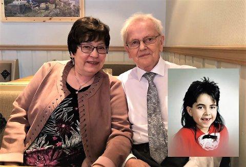 Forsvant: Therese-saken har gnaget i hodene på aurdølene Anne Grethe og Hans Carlsen i 32 år. Innfelt er et bilde av niåringen rett før hun forsvant fra Fjell i Drammen 3. juli 1988.
