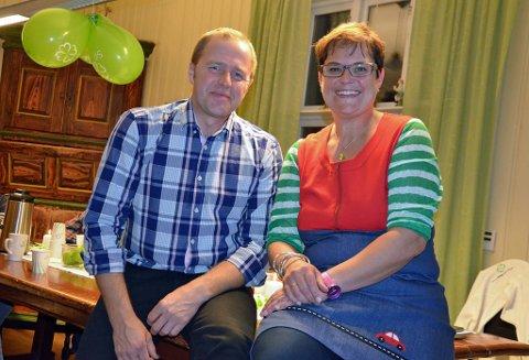 Varaordfører Leif Vingelen og ordfører Ragnhild Aashaug.