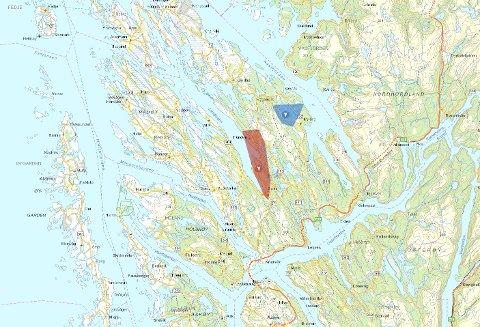 Over 500 kundar er utan straum på grunn av to straumbrot i Lindås onsdag morgon. Kart: BKK