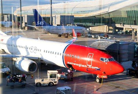 RETT NED: Norwegian-aksjen reagerer ikke nevneverdig på nyheten om midlertidig produksjonsstans av 737 Max-flyene. Foto: Gorm Kallestad (NTB scanpix)