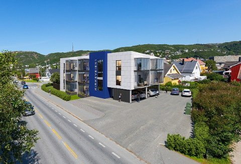 ETTER PLANEN: Slik skal bygget med 19 leiligheter se ut når det står ferdig i tredje eller fjerde kvartal i år.
