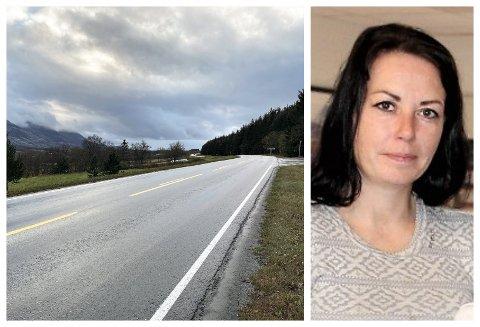 Linda Sandholm Nybakk er opprørt etter at flere biler kjørte forbi etter at en kvinnelig sjåfør var uheldig og kjørte på et rådyr. - At ingen stoppet har jeg problemer med å forstå, sier hun.