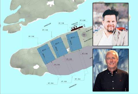 Håvard Lund (øverst) raser mot planene til Gigante Salmon, som eies av Kjell Lorentsen. Foto: Illustrasjon/arkiv