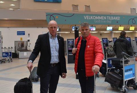 Aleksander Wasland og Bjørnar Skjæran frykter at man mister arbeidsplasser i Bodø etter at Widerøe tapte anbudet på ruten mellom Oslo og Florø.