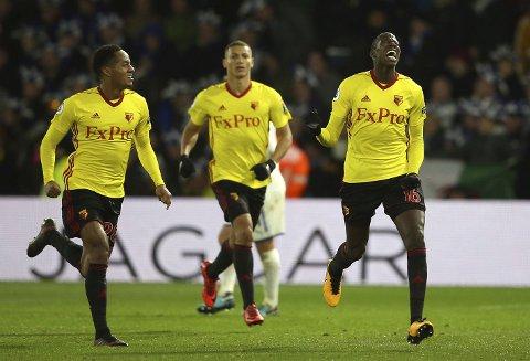 Watford og Abdoulaye Doucoure (t.h.) har vært inne i en tung periode, men de kan komme tilbake på vinnersporet mot et svakt Southampton-lag.
