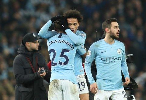 Manchester City og Leroy Saneer kjempefavoritter mot Rotherham. (AP Photo/Jon Super)