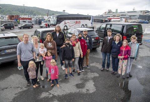 Disse familiene har en ting til felles, og det er at de ikke får feriert i Bergen denne sommeren.
