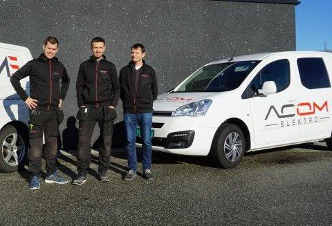 Gründere: Rune Mæle og Andreas Rygg er begge fra Randaberg, gikk sammen på elektro på skolen på Randaberg vgs og ble sensommeren 2018 medgründere da de startet opp Acom Elektro AS sammen med en tredjeperson.