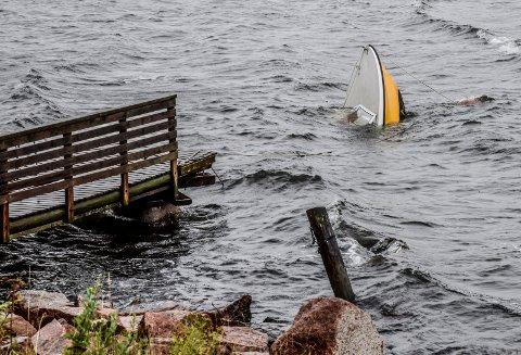Holmsbu, båthavari etter uværsnatt