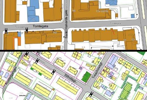 Tomtegata og Stiboltsgate er to av gatene du nå må se opp for parkering forbudt-skilt.