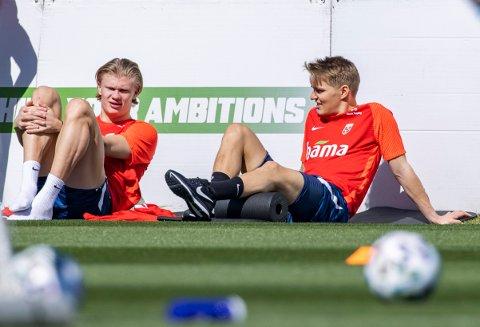 Erling Braut Haaland og Martin Ødegaard – sammen i Real Madrid fra sommeren av?