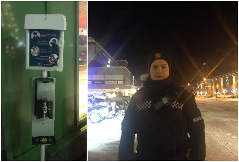 TOK FYR: Politiet måtte rykke ut til at ein 18-åring sette fyr på ein Antibac-stasjon.