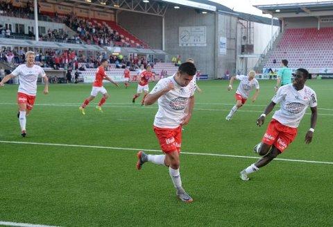 Sanel Kapidzic ga FFK ledelsen som så ut til å gi rødbuksene tre poeng, men i det 90 minutt utlignet KIL på et mesterlig frispark.