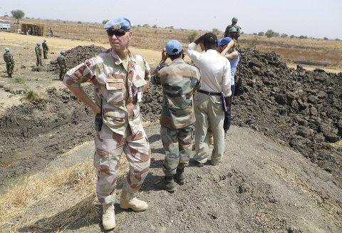 PÅ OPPDRAG: Jan Ivar Hoff på oppdrag i Sør-Sudan vinteren 2014.