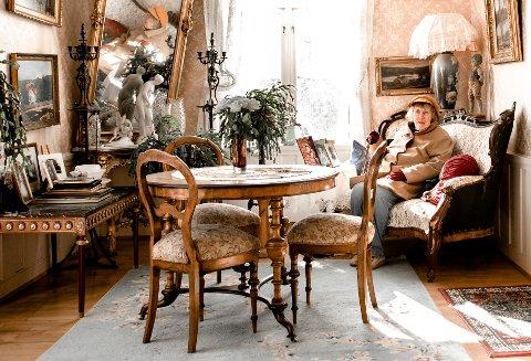 """På fetekur her: Eva Lange Hafstad reiste jevnlig fra Oslo til besteforeldrene på Byens Marker, her fikk hun bedre mat. Nå bor Eva fast på krigens """"kursted""""."""