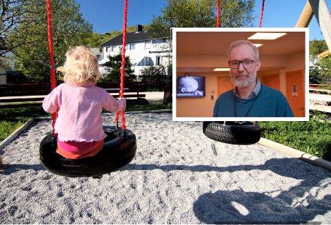 KLAR BESKJED: Foreldrene må holde barn som har vært syke lenger hjemme før de sender dem tilbake i barnehagen, sier kommuneoverlege Niels Kirkhus.