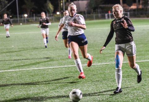 MÅLSCORER: Stine-Emilie Hytten Andersen, sørget for tre av fem mål i kampen mot Lier tirsdag kveld. Her mot Modum fra en tidligere kamp.